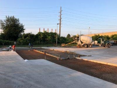 New Concrete Lot Under Construction