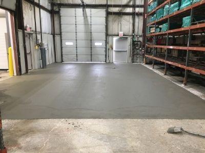 Freshly Paved Concrete Floor