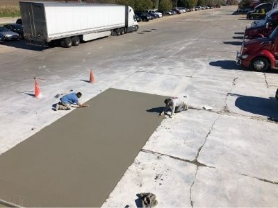 Newly Paved Concrete Construction
