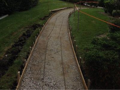 Concrete Path Construction