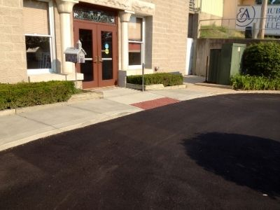 Redone Concrete Entryway
