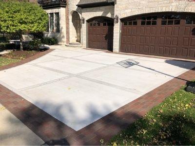Redone Concrete Driveway