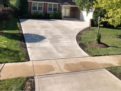 Concrete Apron and Driveway Redone