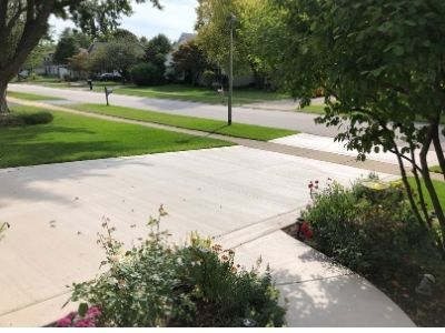 New Concrete Drive and Entryway