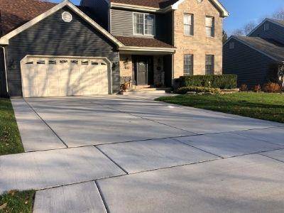 New Concrete Driveway, Sidewalk and Apron