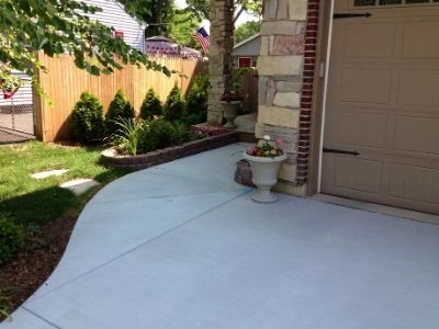 New Concrete Driveway and Entry