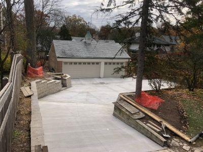 New Long Concrete Driveway