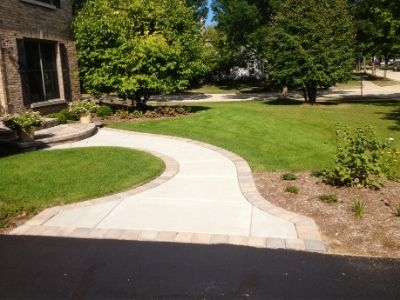 New Curved Concrete Walkway