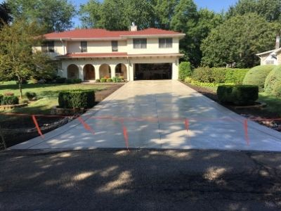 Newly Paved Concrete Driveway
